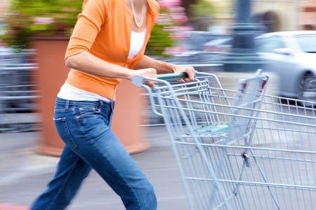 Supermarket Shopper Stock Photo - 4975328