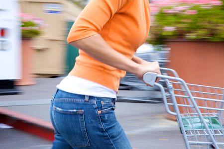 Supermarket Shopper Stock Photo - 4975327