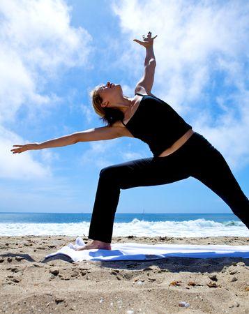 Yoga on the Beach Stock Photo - 5014149