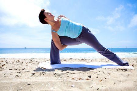 Yoga on the Beach Stock Photo - 5014146