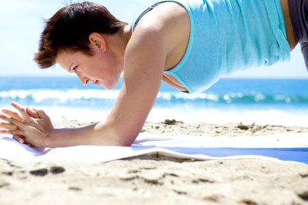 Yoga on the Beach Stock Photo - 5014138