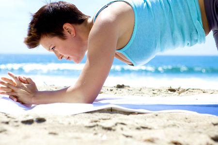 Yoga on the Beach Stock Photo - 5014138