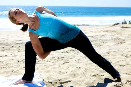 Yoga on the Beach Stock Photo - 5014065