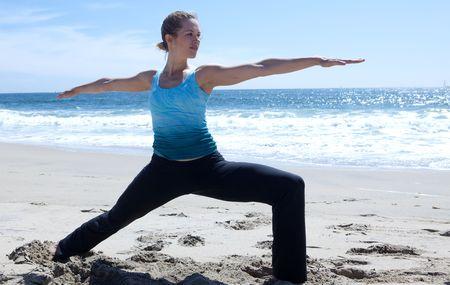 Yoga on the Beach Stock Photo - 5014187
