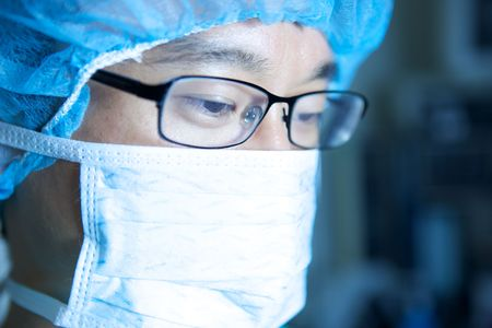 An Asian Doctor Working in a Hospital Stock Photo - 5058039