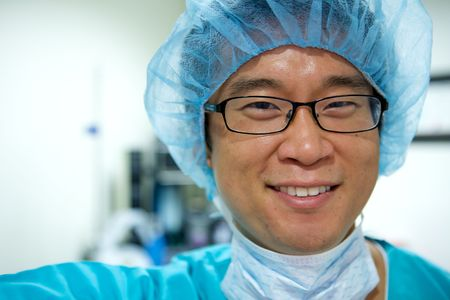 An Asian Doctor Working in a Hospital Stock Photo - 5058101