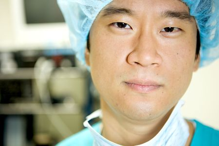 asian doctor: An Asian Doctor Working in a Hospital