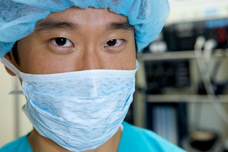 An Asian Doctor Working in a Hospital photo