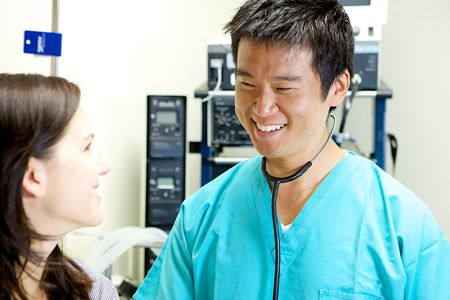 selected: An Asian Doctor Working in a Hospital