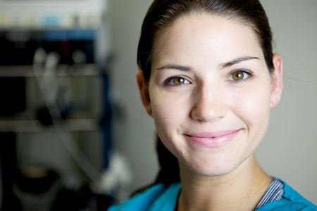 An Attractive Nurse working in a hospital Stock Photo