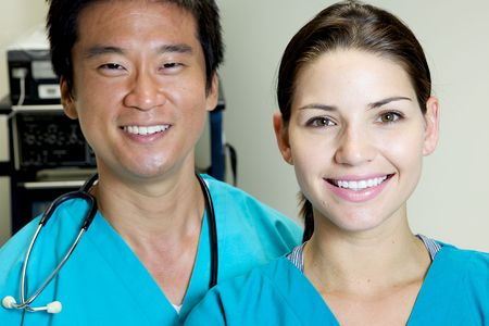 An Asian Doctor Working in a Hospital Stock Photo - 5058055