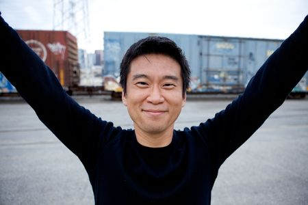 selected: Portrait of an interesting asian man with an honest face Stock Photo