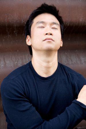 honest: Portrait of an interesting asian man with an honest face Stock Photo