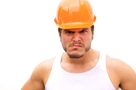 A tough guy in a hard hat Stock Photo - 5338915
