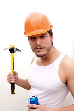 A tough guy in a hard hat photo