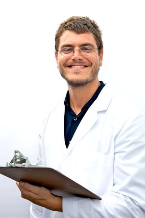 honest: An attractive scientist with an honest face