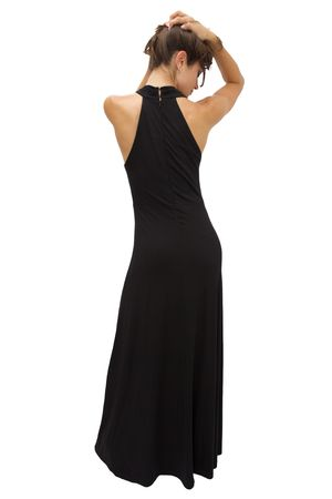 Beautiful Woman in an evening gown full length photo