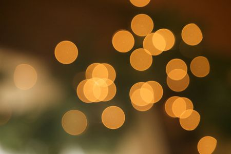 Christmas Lights with green undertone and overlaps Stock Photo - 6355918