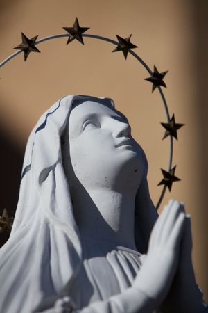 A Praying Virgin Mary Statue with stars halo Stock Photo - 6355934