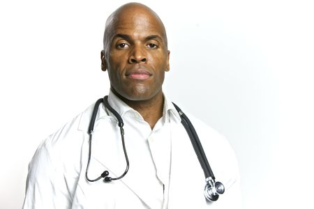 A Young African American Doctor With a Stethoscope Stock Photo - 6474914