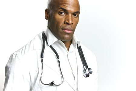 A Young African American Doctor With a Stethoscope Stock Photo - 6474913