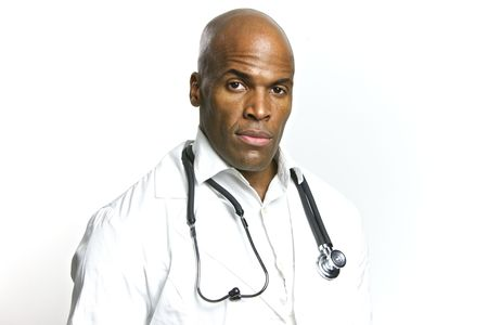 A Young African American Doctor With a Stethoscope  Stock Photo - 6474915