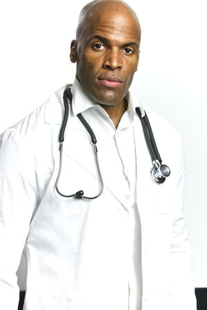 medical field: A Young African American Doctor With a Stethoscope  Stock Photo