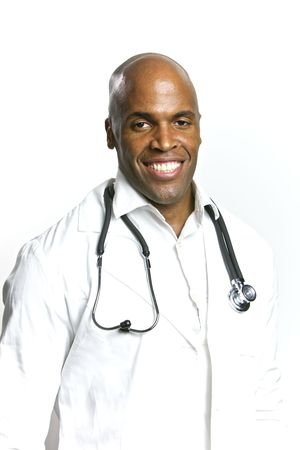 A Young African American Doctor With a Stethoscope  Stock Photo - 6474930