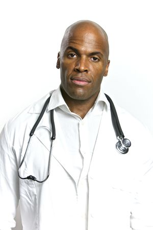 A Young African American Doctor With a Stethoscope Stock Photo - 6474925