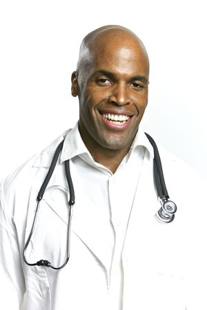A Young African American Doctor With a Stethoscope Stock Photo - 6474932