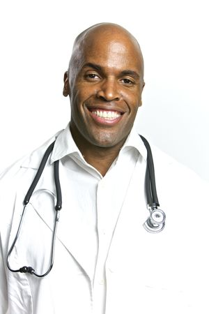 A Young African American Doctor With a Stethoscope Stock Photo - 6474928