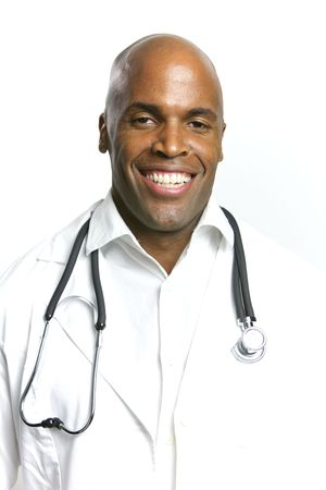 A Young African American Doctor With a Stethoscope  Stock Photo - 6474929