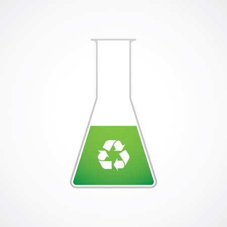 Chemical test tube recycle symbol
