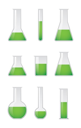 Chemical test tubes  Illustration