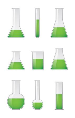 sterile: Chemical test tubes  Illustration