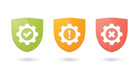 wheel guard: A set of informatic protection shield icons
