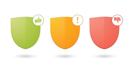 A set of informatic protection shield icons Stock Vector - 21876152