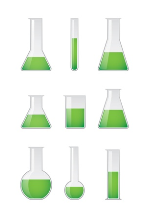 A chemical test tube set Stock Vector - 21960145