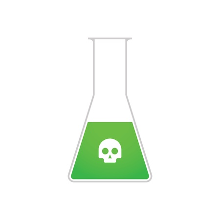 A chemical test tube with a skull Stock Vector - 21960146