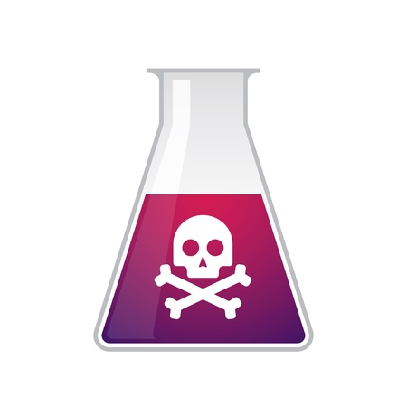 A chemical test tube with a skull Stock Vector - 21960149