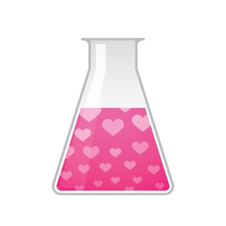 A chemical test tube with a heart texture Stock Vector - 21960151