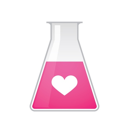 A chemical test tube with a heart Stock Vector - 21960154