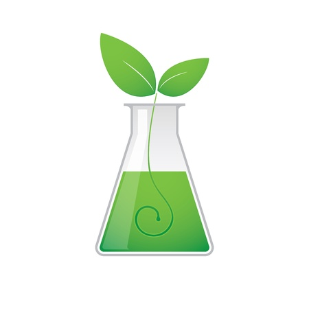 A chemical test tube with a ecology related icon Stock Vector - 21960158