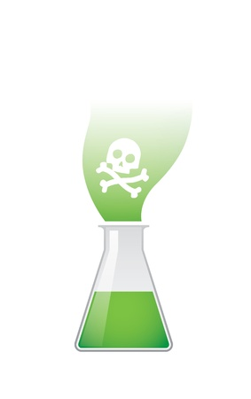 A chemical test tube with a skull Stock Vector - 21960208