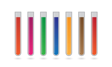 A chemical test tube set Stock Vector - 21960216