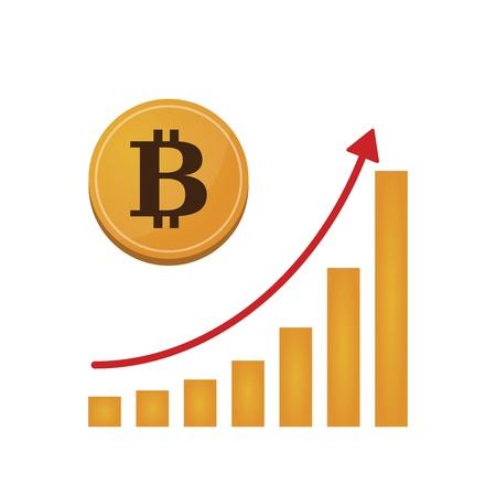 Illustration of open-source money Bitcoin