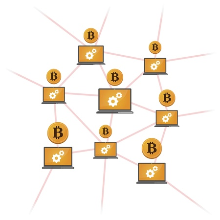 p2p: Illustration of open-source money Bitcoin
