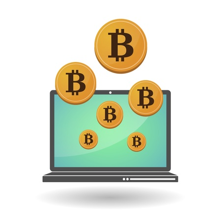 Illustration of open-source money Bitcoin