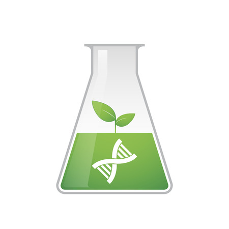 transgenic: A vector illustration related to transgenics and health