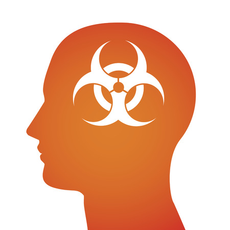 A vector illustration related to biological risk